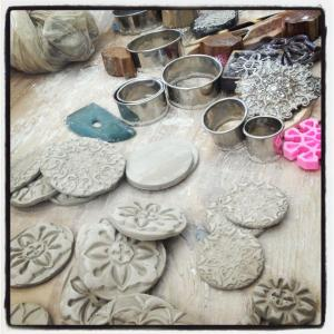 Ceramic buttons in progress