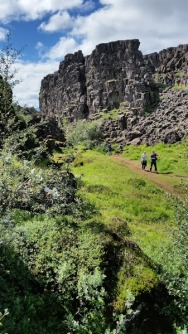 The rift between the North American Plate and the Eurasian Plate